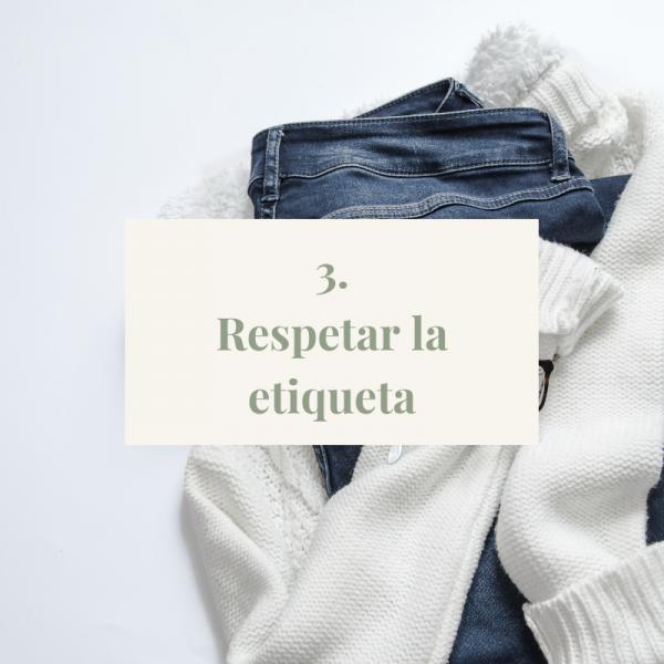 Alargar la vida útil de la ropa. Tip#3